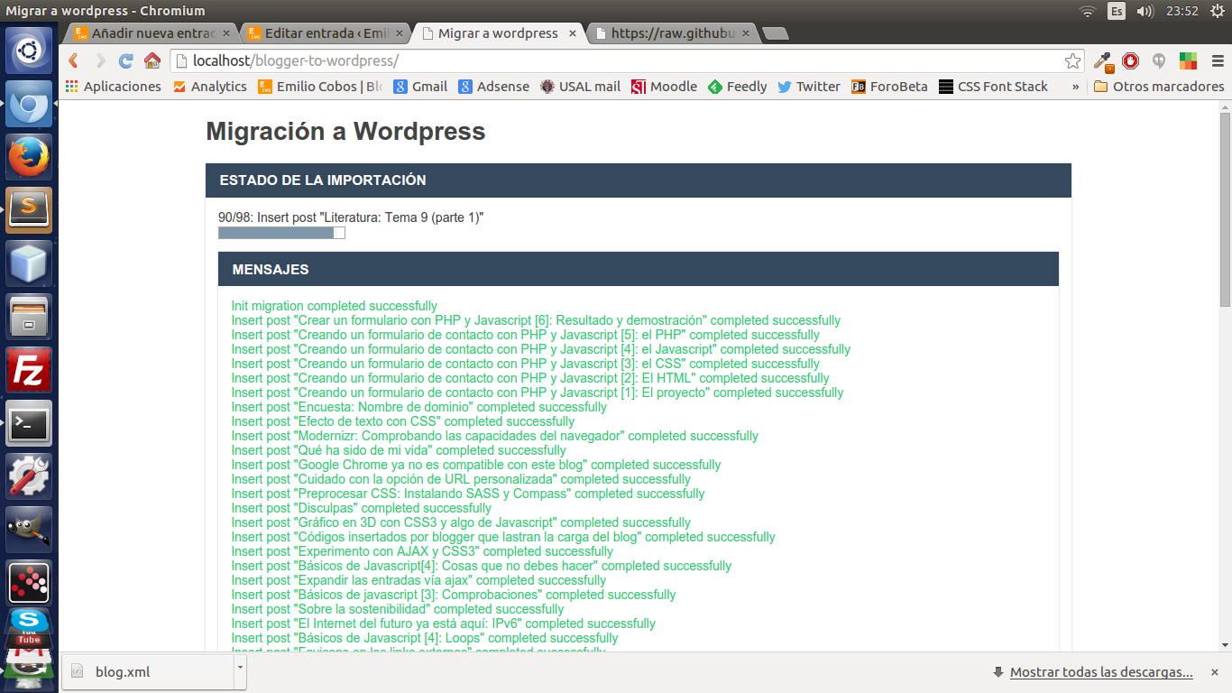 Blogger a wordpress v2